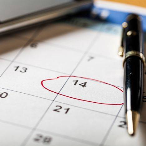 Concealed carry course policy and procedures - calendar with a pen and a phone.